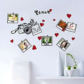 疯狂特价包邮 可移除墙贴纸照片贴相片贴背景浪漫儿童房 记忆年华