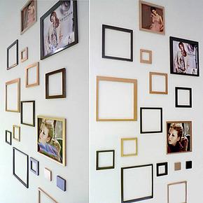 年中大促立体墙贴 正方框 客厅水晶相框墙贴沙发照片墙贴相片墙