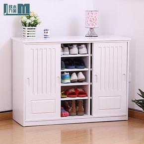 玖木九美特价新款实木家具鞋柜大容量储物柜收纳柜简约现代欧式