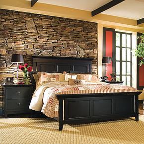 欧美莲 美式卧室成套家具系列 乡村田园实木床 简约 1.5 1.8米