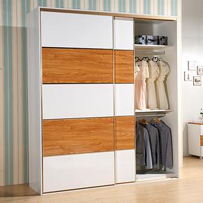 宜家逸居 时尚新品 移门衣柜 亮光整体衣柜 家具定做定制YG5001