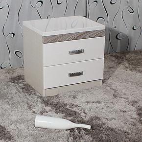 安尔美家具 简约现代储物柜 白色烤漆床头柜 收纳柜 床边柜 201