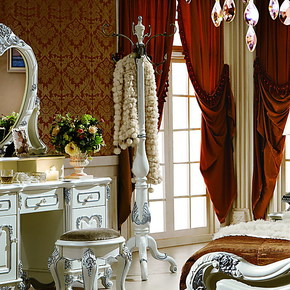 法拉丹顿 XT实木挂衣架衣帽架衣架 象牙白 欧式描银 卧室家具