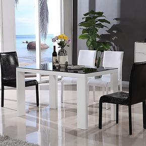 晟派家具 餐桌 时尚客厅餐桌椅组合 简约现代钢化玻璃餐桌-T201A