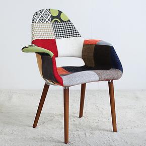 EHdecor家具 百变沙发椅时尚休闲 咖啡椅欧式餐椅子 书房椅
