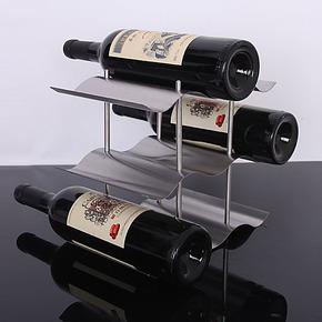 不锈钢红酒架 3层9瓶装酒架子 创意 欧式 葡萄酒架 多只装酒架子