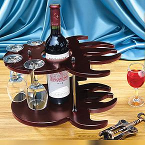 晨晨 1110016木制 吧台酒架 红酒架时尚葡萄酒架 木质酒杯架创意