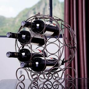 新品 维也纳酒架 铁艺酒架 多瓶装酒架 圆形酒架