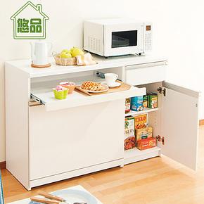 妙厨超宽拉板两屉餐边柜 厨房收纳柜橱柜储物柜 宜家餐柜家具悠品