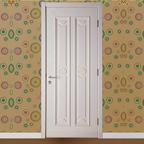 【深宇门业】卧室门套装门室内原木烤漆门全实木指节橡木门S-545