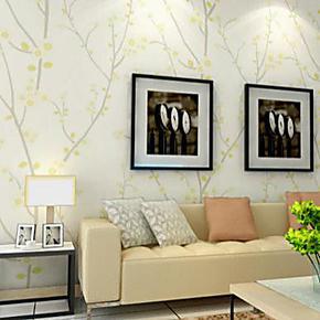 玉兰墙纸卧室客厅电视背景墙无纺纸环保壁纸时尚温馨浪漫墙纸2036
