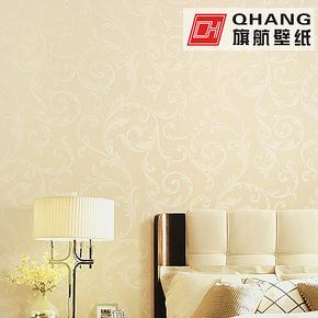 旗航壁纸 欧式简约独特纱线墙纸 温馨卧室无纺布壁纸QDO-B6