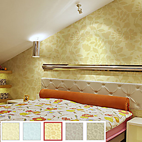 玉兰墙纸 视觉无纺V203401 背景墙卧室书房 环保无纺纸 玉兰壁纸