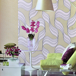 真诚壁纸 珠光颗粒无纺布墙纸客厅卧室电视背景波浪纹壁纸 969081