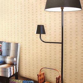 布吕克纳真丝无纺布墙纸现代时尚小花卧室餐厅楼梯客厅壁纸AM-08