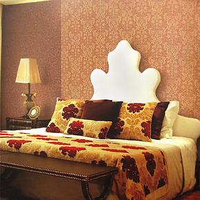 布吕克纳双面植绒洒金无纺布墙纸 卧室 客厅 大马士革壁纸AM-6998