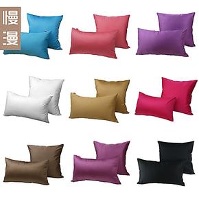 慢漫纯色抱枕纯棉沙发垫靠枕布艺床头靠背办公座椅靠垫套 多色