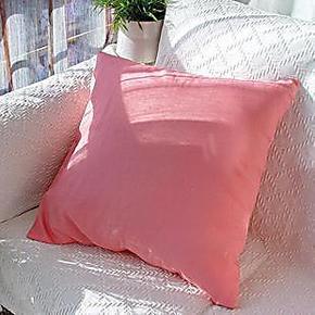 【吉屋】依诺暖粉 韩式纯棉抱枕靠垫沙发汽车床头靠包靠枕套定做