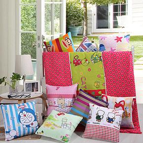 全棉抱枕被 纯棉儿童被午睡午休空调被靠垫被子沙发靠枕 汽车抱枕