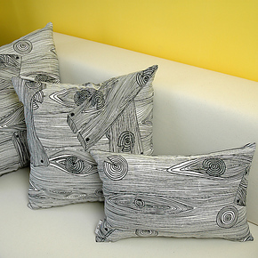 艾沫_道森_抱枕靠垫靠枕_靠垫套抱枕套_床头沙发靠垫纯棉布艺黑白
