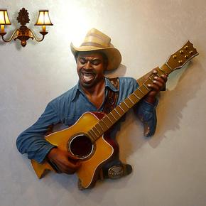 美式音乐人壁挂 树脂壁挂 墙面 时尚壁挂组合 客厅创意装饰品
