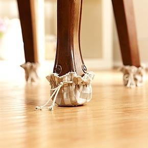 Cozzy life蔻姿家居日式棉麻色系列多功能桌椅系绳脚套皮质保护垫
