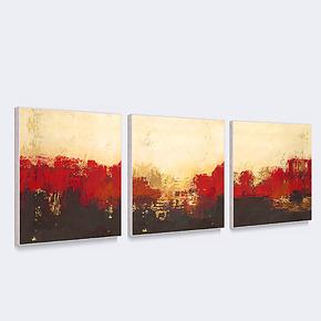 天画装饰画抽象简约有框画沙发电视背景墙客厅酒店壁画挂画三联画