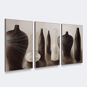 天画现代简约装饰画有框画客厅餐厅墙画壁画挂画家居饰品静物陶器