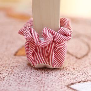 【唯米】6450 麻棉松紧带收口 田园椅脚套 脚套 桌脚套 布艺 防滑