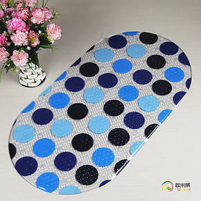 欧米莱 特价大号PVC浴室防滑垫 淋浴房浴缸防滑垫卫浴地垫 带吸盘