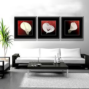 装饰画家居现代装饰画卧室挂画有框画餐厅客厅卧室两联画立体画