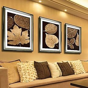 柠檬树家居装饰画客厅现代三联画有框画简约墙画挂画壁画 包邮