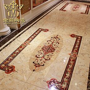 金慕高贵镀金抛晶砖/抛金砖/艺术地砖/客厅过道地毯无限拼接DIY