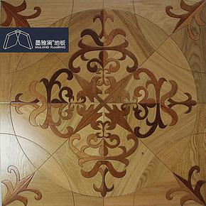 墨雅澜 实木艺术拼花地板【橡木沙比利 葡萄花】地热背景墙PH045