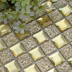 【玻瑞特】镜面马赛 玻璃马赛克 DUA28 背景墙 金色镜面 客厅建材