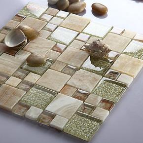 新款【尚槟榔】637马赛克瓷砖拼图电视背景墙贴镜面水晶建材客厅