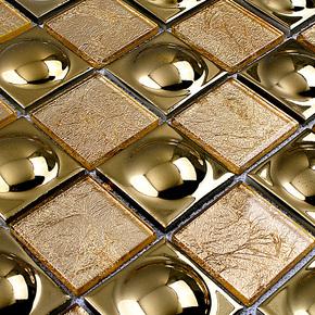 永宜 陶瓷石材 马赛克 010 水晶玻璃 电镀 拼图瓷砖 电视背景墙