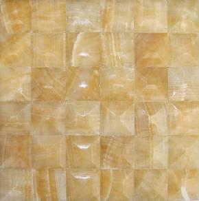 【奇岩】 欧美风格沙发背景 松香黄玉石马赛克5x5双向弧