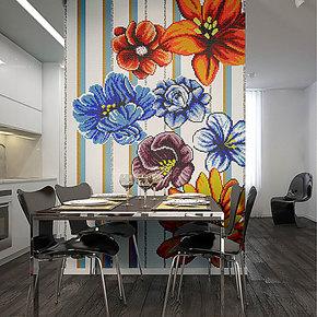 【孔雀鱼】艺术 玻璃 马赛克 s1041 电视背景墙瓷砖 餐厅拼图