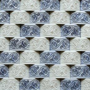 永宜 树脂青花瓷 马赛克 018 电视 艺术背景墙 瓷砖 仿古砖 墙贴