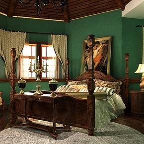 歌诗雅无纺布壁纸 卧室客厅背景墙墨绿色环保墙纸131东南亚风格