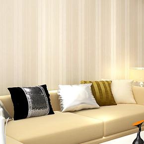 雅衡现代简约无纺布纱线背景壁纸 素色时尚竖条客厅背景F-08墙纸