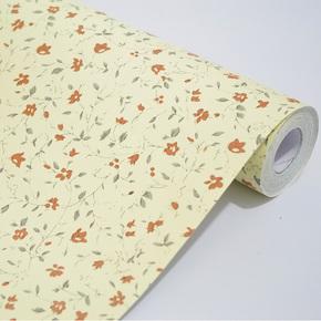 余美PVC自粘墙纸 黄底小碎花客厅卧室壁纸 家具翻新贴Y1048-3