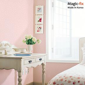 韩国进口自粘墙纸壁纸自贴粉色浪漫墙纸壁纸卧室客厅现代简约墙纸