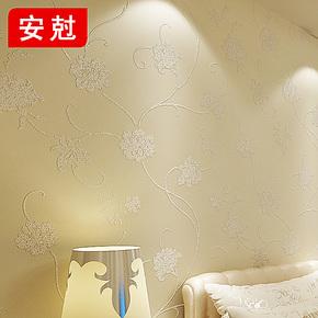 安尅 欧式简约家装壁纸 无纺布墙纸 卧室客厅满铺 温馨藤花 T