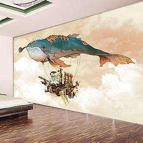 贝西普壁画 电视背景个性墙纸壁纸客厅卧室大型壁纸背景墙纸自粘