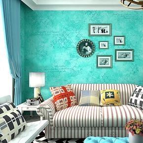 歌诗雅墙纸 客厅卧室沙发背景墙 英伦简约 时尚字母壁纸196湖蓝色