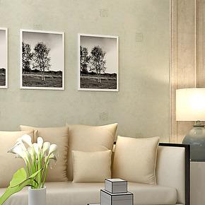 将旗 纯纸美式乡村纯色绿色墙纸 HG55903客厅过道卧室书房壁纸