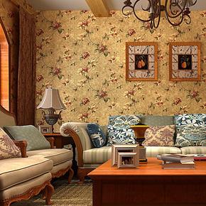 歌诗雅纯纸墙纸 装修房间客厅卧室美式复古怀旧乡村田园壁纸101