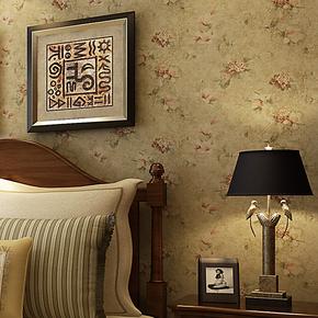 将旗 81205无纺布美式乡村田园风格壁纸 卧室床头 客厅背景墙墙纸